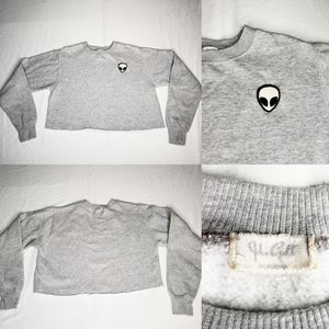 ‼SOLD‼ John Galt Cali Alien Cropped Sweater